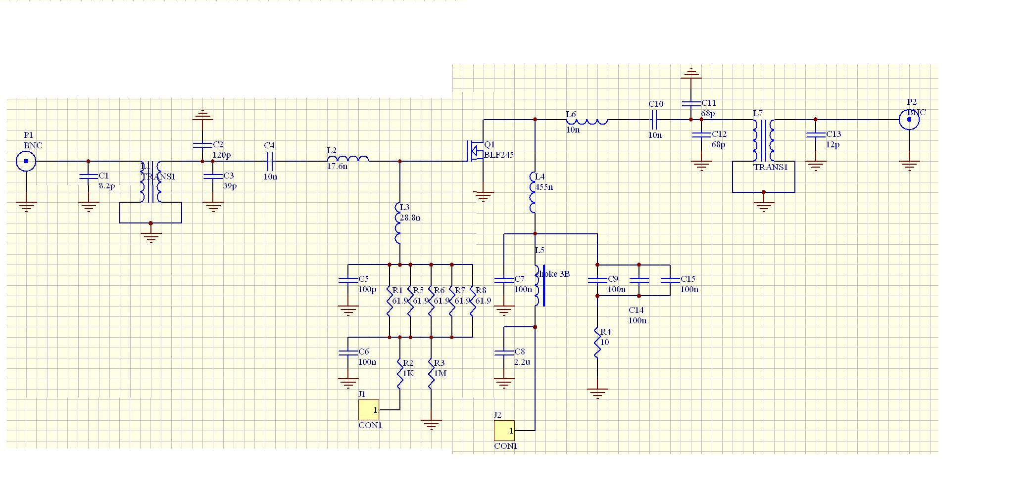 Rf Power Amplifiers Class E Amplifier Circuit Diagram We Have Enough Resources Including A Board For This Design The Following Figure Shows Layout Under Construction